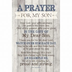 """The """"Prayer For My Son"""" Wooden Plaque"""